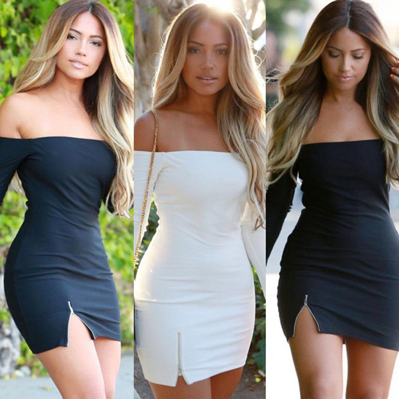 d68fbb5619a6 New Arrive Best Quality 2018 Bodycon Dress Off The Shoulder Bandage Dress  Sexy Strapless Club Dress KF748 Plus Size Special Occasion Dresses Unique  Prom ...