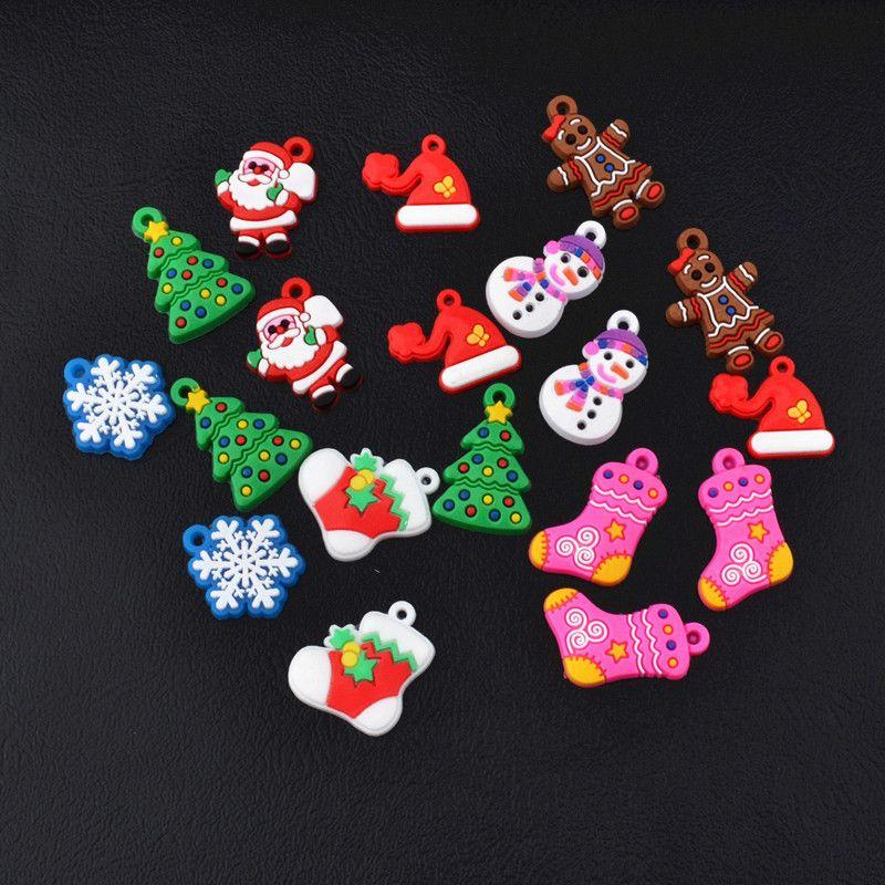 PVC Pendant Charms Christmas Rainbow Loom DIY Materials