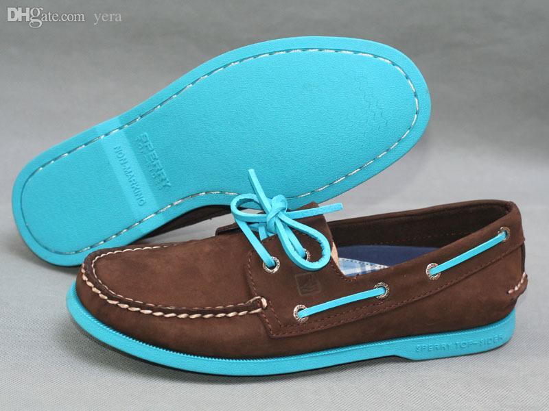 Wholesale-Sperrys Men Boat Shoes Men's Flats 100%Genuine Leather + Handmade  Sperry Top Sider Boat Shoes Men Shoe Mat Shoes Shoe Carnival Shoe Color Red  ...