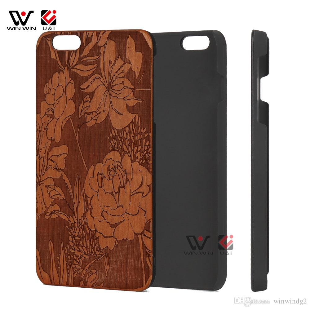 premium selection b1c11 e1d7e Cover Cherry Wooden for iPhone 6 Plus High Quality Shockproof Protective  Wood Phone Case For iPhone 7 Plus