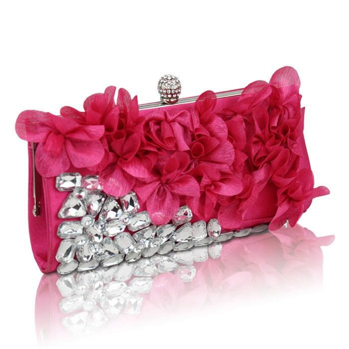 New Diamond Petal Bag Evening Bag Evening Bags Banquet Bag Bride ...