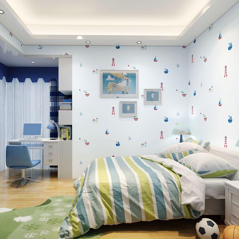 Großhandel Neue Mediterrane Kinderzimmer Wand Papier Junge Mädchen ...