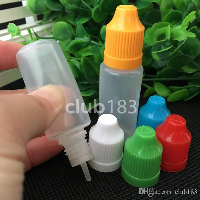 Soft PE E cigarette Liquid Bottle 15ML Plastic Dropper Bottles With Long Thin Needle Tip And Childproof Cap Plastic Bottles BY DHL