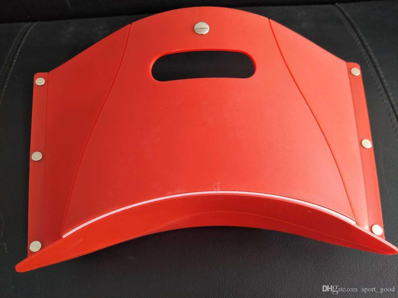 Novo design de acessórios da engrenagem dobrar fezes vermelho fezes portátil banco arquivo de pesca multi-purpose cadeira de fezes de pesca para venda