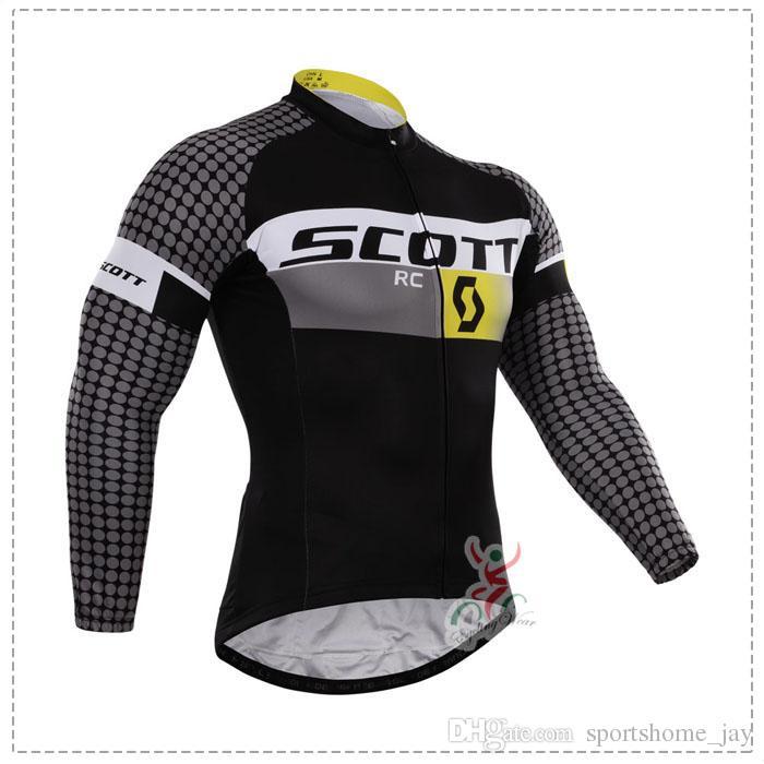 scott Otoño o invierno polar 2015 equipo Ciclismo Jerseys Bicicleta Bicicleta Mangas largas Mountaion MTB ciclismo Jersey Ropa Camisas