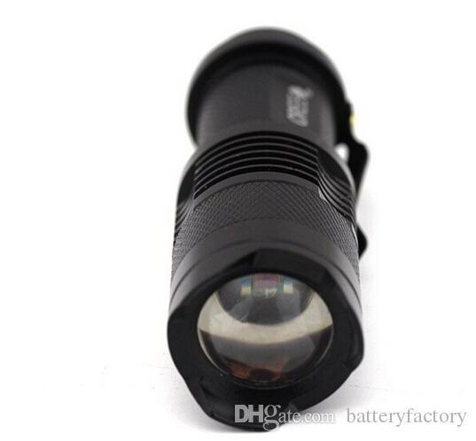 Darmowy EPACTET, 2015 Nowy UV 395NM Mini LED Latarka Latarka 7W 300LM Purple Kolor Regulowany Focus Zoom Light Light