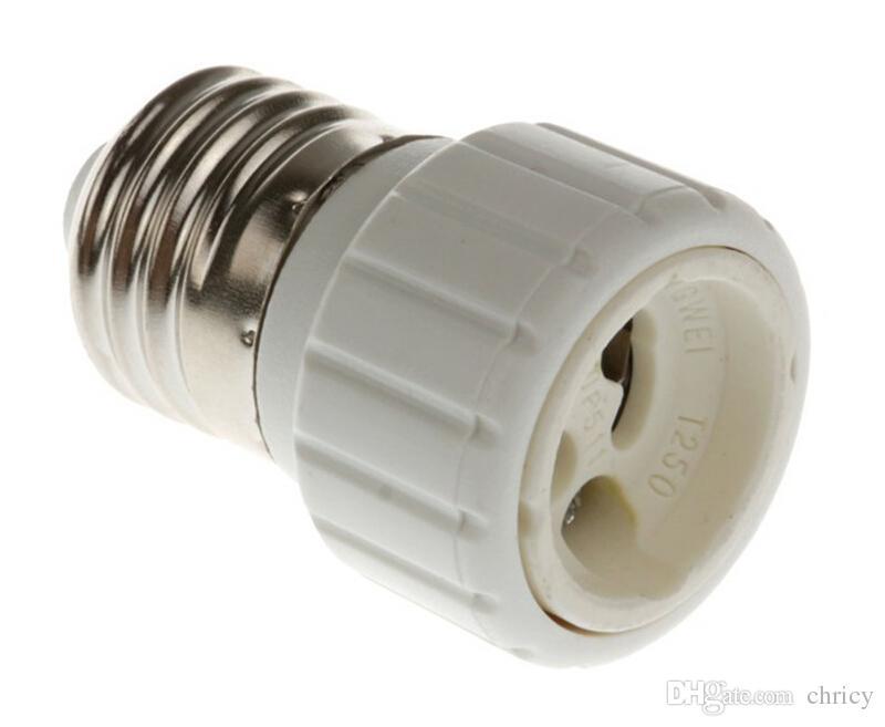 2016 CE RoHS New Light Lamp Bulb Adapter Converter LED E27 To GU10 Socket Holder Light Bulb Lamp socket for GU10 white body