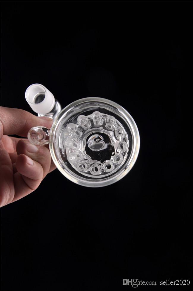 Hookahs 18mm Catcher Catcher Óculos Únicos Ashcatcher com 12 braço de braço Inline PERC 18 mm Juntas Direita Ângulo 14mm Vidro Bongs