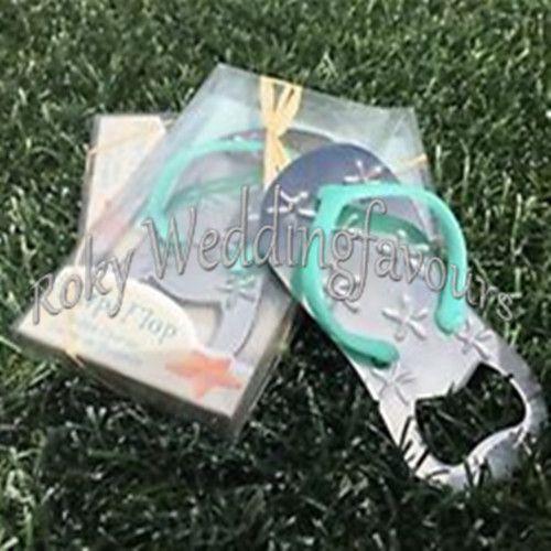 DHL Livraison Gratuite! / ! Faveurs de mariage d'ouvreur de bouteille de bascule, faveurs d'événement de fête nuptiale de douche de thème de plage / tongs de mariage