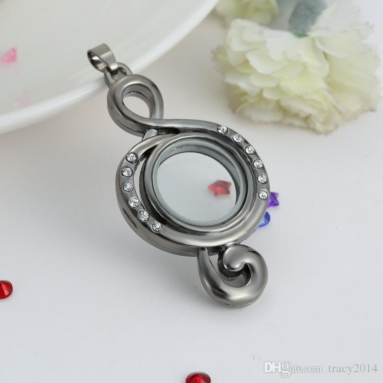 Glass Floating Charms Memory Locket Necklace Creative paragraph Frame Jewelry New high quality Necklace make Wonderful Gifts