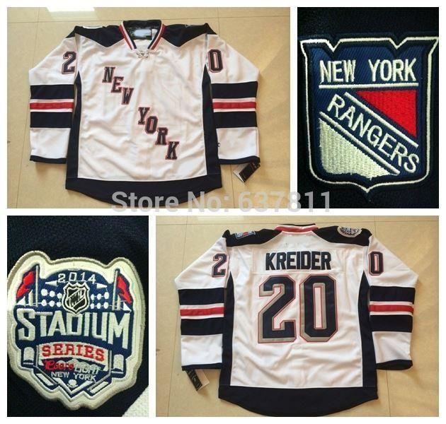 49e4742787b 2019 2016 New, 2014 Stadium Series New York Rangers Ice Hockey Jerseys #20  Chris Kreider Jersey NY White Cheap Chris Kreider Stitched Jerse From  Since, ...