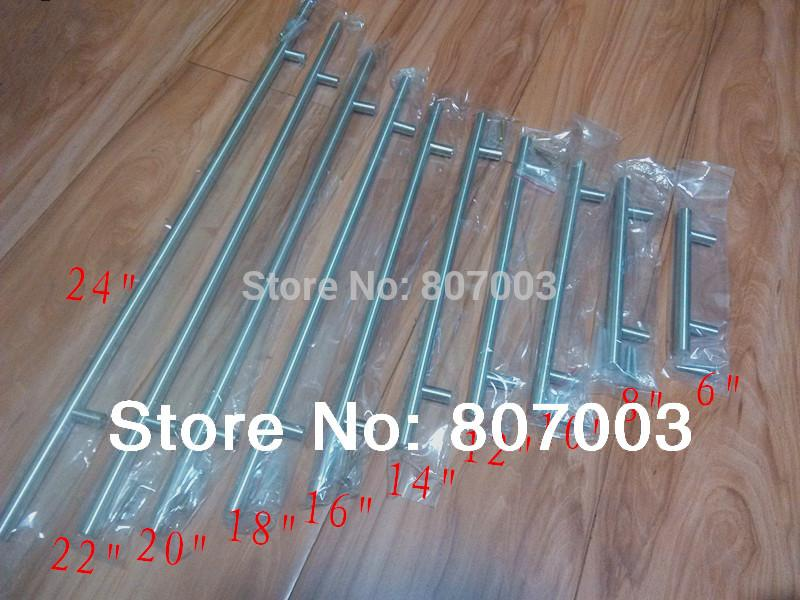 Diameter 12mmStainless Steel Kitchen Door Cabinet T Bar Handle Pull ...