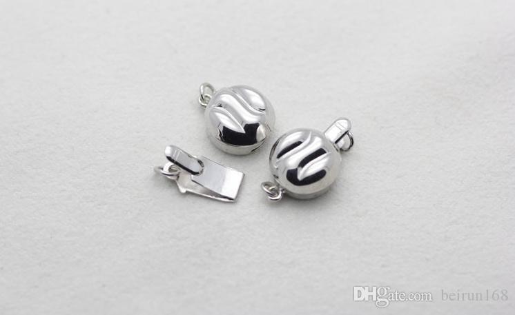 Бесплатная доставка Оптовая жемчужные аксессуары Ю Фу юань 925 серебряное жемчужное ожерелье браслет застежка YPJ93