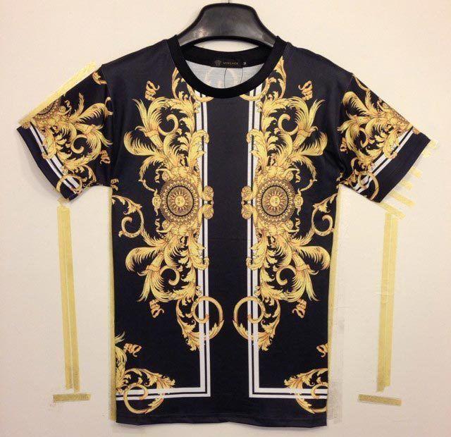 1d745eb8b744c Mikeal Classic 3D T-shirt Summer Fashion Men s 3d Tshirt Print Medusa  Phoenix Wings Golden Flowers Good Quality Men Tees Tops T-shirt Heat  Transfer Pap ...