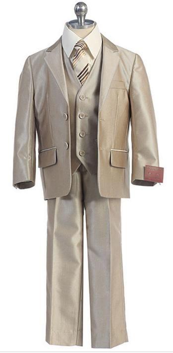 Hot sales of children's wear formal attire of the boy three-piece suit lapel two button man festival dress formal occJacket+Pants+Tie+Vest