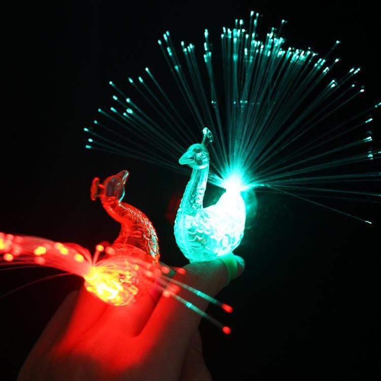Led Wall Light Flashing: 2018 Led Colorful Peacock Night Light Flashing Night Light