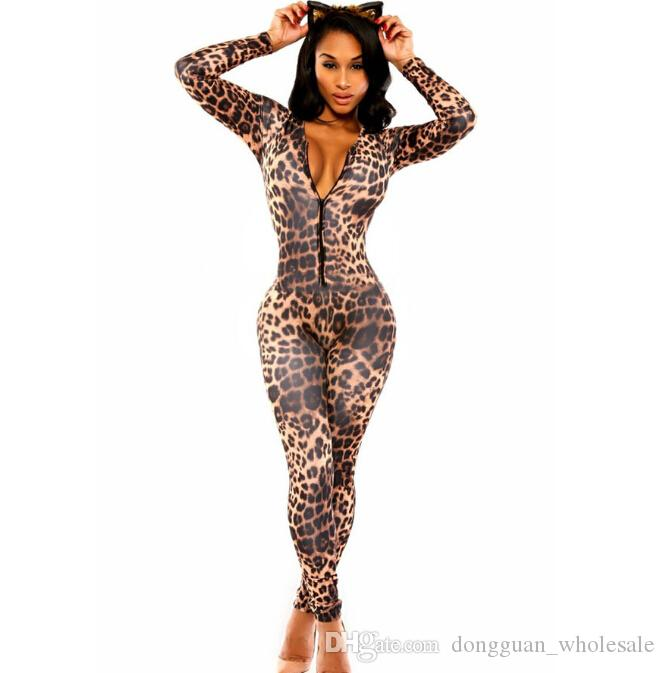 6aba48f3497 2016 New Sexy Women Autumn Bodycon Jumpsuit Overalls Open Front ...