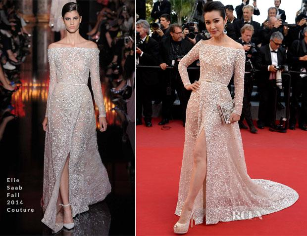 Elie Saab Red Carpet Celebrity Dresses Off-Shoulder Long Sleeve Lace Gorgeous Evening Dress High Slit Sexy Prom Gowns Exquisite Vestido