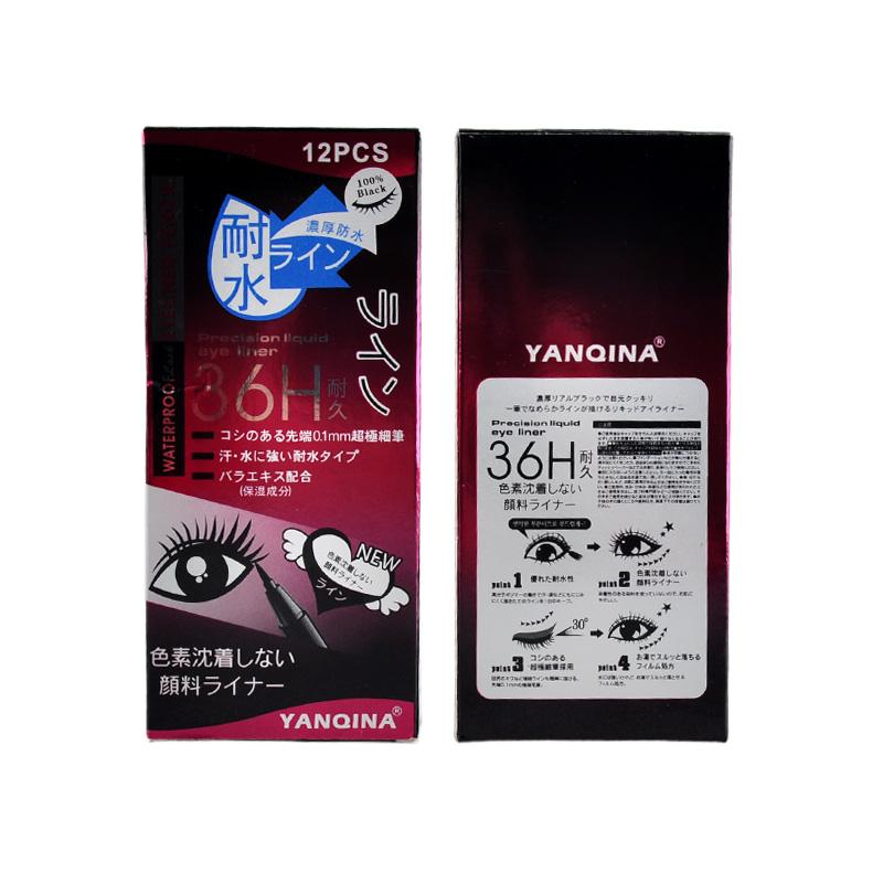 YANQINA 36H Makeup Eyeliner Pencil Waterproof Black Eyeliner Pen No Blooming Precision Liquid Eye liner 2801003