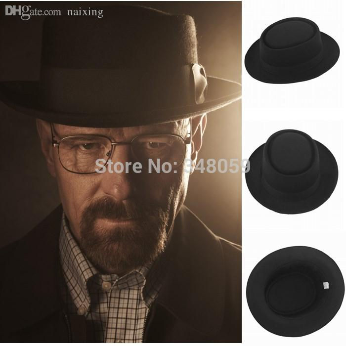2019 Wholesale 2015 Fashion Men Classic Felt Pork Pie Porkpie Fedora Hat  Chapea Cap Upturn Masculino Black Ribbon Band Panama Hats From Naixing b2190c5d373