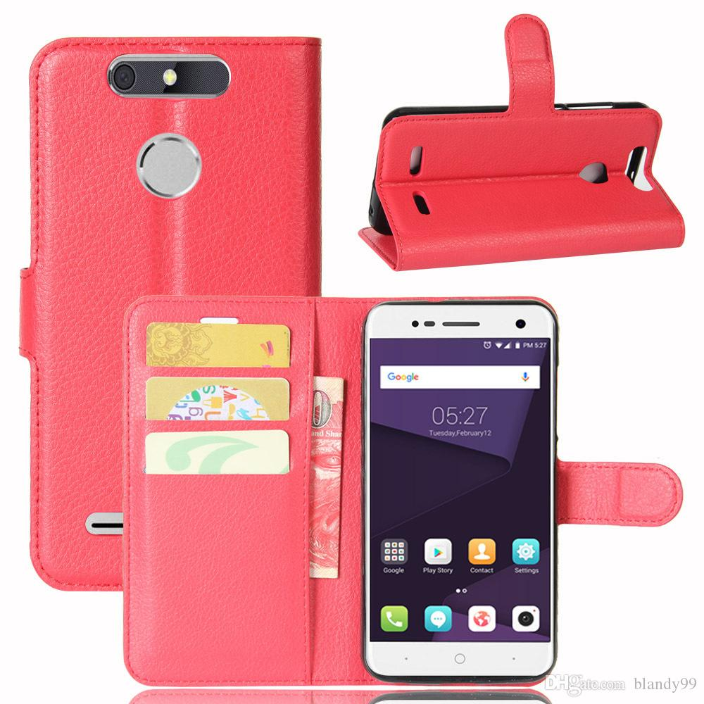 For ZTE Blade V8 lite litchi lychee wallet leather PU TPU phone cover Case For ZTE nubia Z17 mini For ZTE blade A452 L5