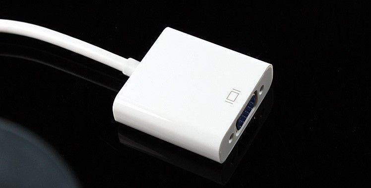 Hot New apple mini displayPort à VGA Video Converter adaptateur pour ordinateur TV projecteur DRV DHL livraison gratuite
