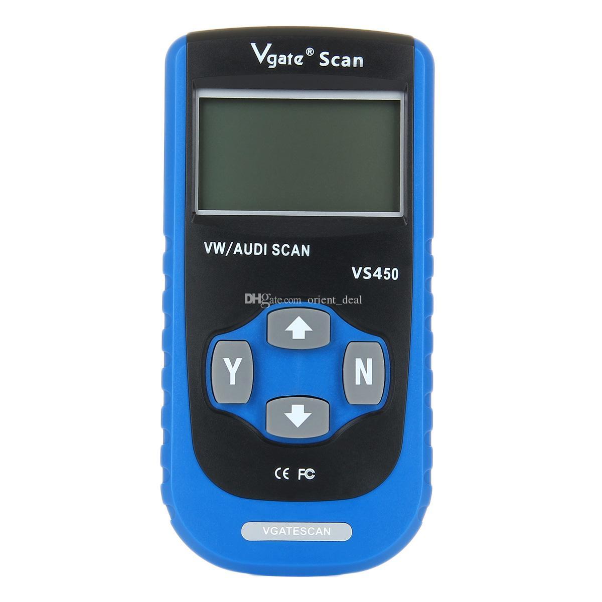 Lecteur de code Vgate VS450 16pin OBDII EOBD outil de diagnostic automatique pour VW / AUDI ISO 14230 CARB peut livraison gratuite