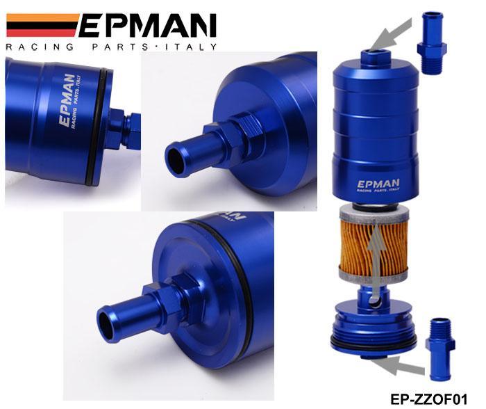 Tansky - Epman Racing Universal Filtr EPManu Aluminium Filtr paliwa UNI Competition 10Micron Filtr papieru Kompletny EP-ZZOF01