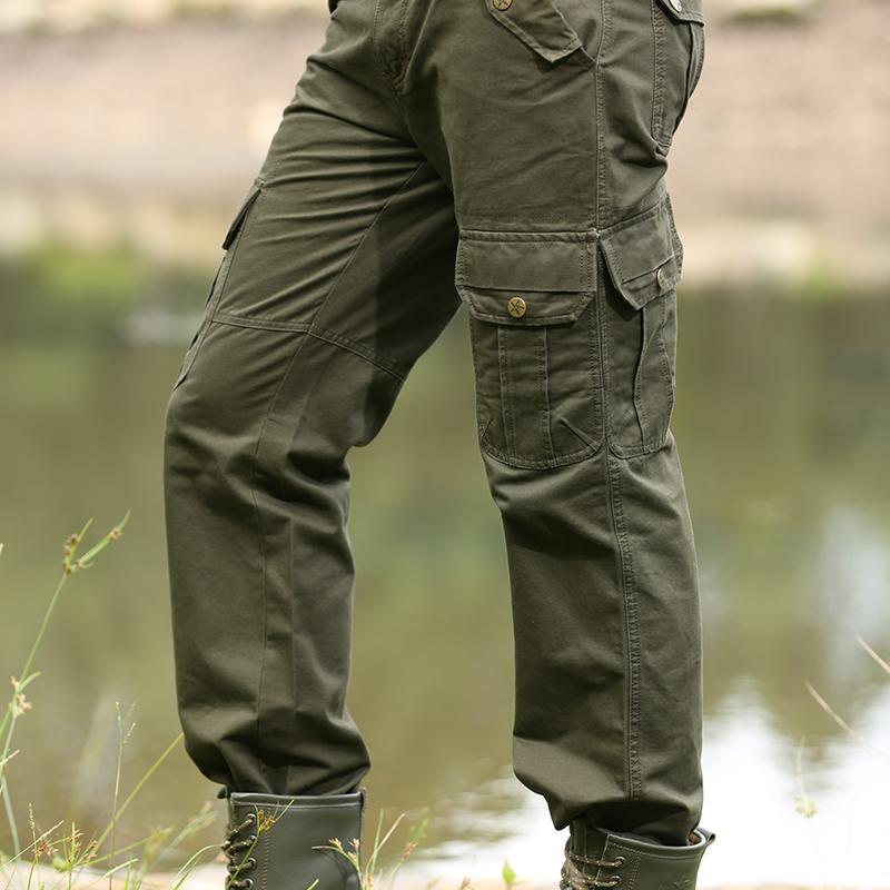 Mens Fashion Olive Green Pants
