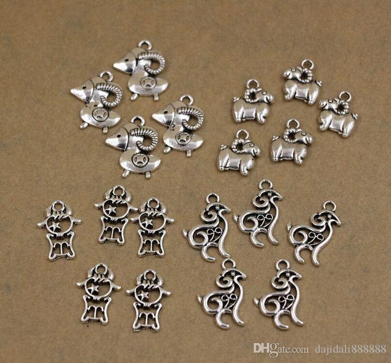 Sıcak ! Antique gümüş Çinko Alaşım Karışık Sevimli koyun Charms Kolye Takı DIY