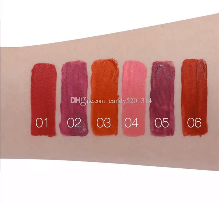 Popfeel 립글로스 레드 와인 병 립스틱 고품질 메이크업 6 색 수채화 물감 매트 립글로스 오래 지속되는 립스틱