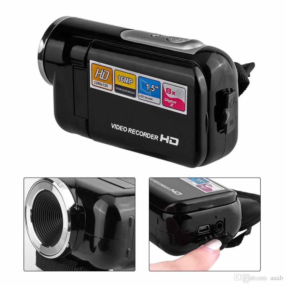 POLOSHARPSHOTS Portable HD 720P Camera Camcorder 1.5 Inch TFT 16MP 8X Digital Zoom Video Camcorder Camera High Speed USB2.0