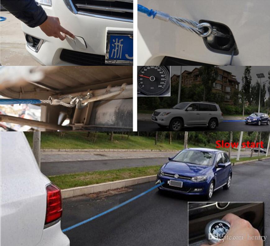 車のTurckの牽引ロープ7トン5メートル牽引ロープ線様々な車の普遍的な粗い鋼線