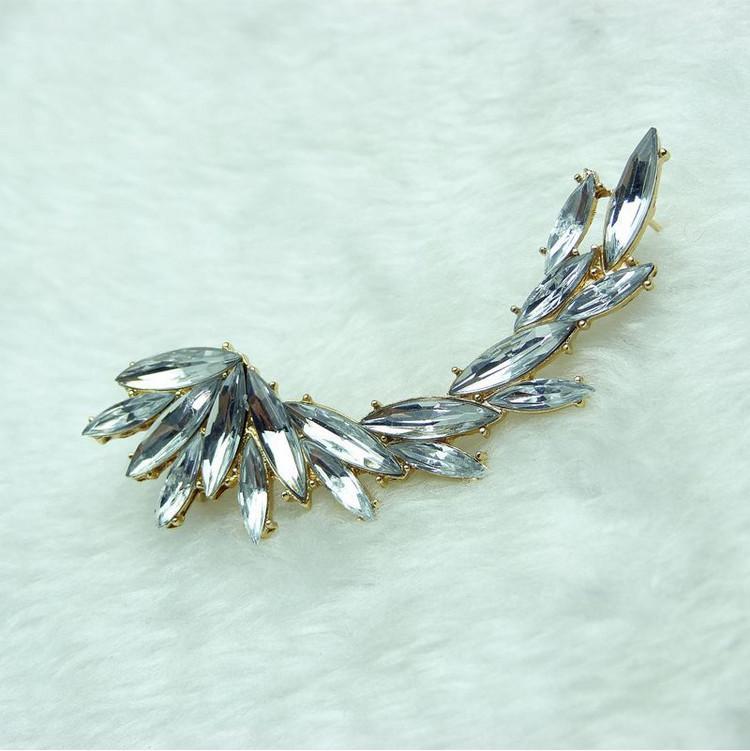 أقراط مجوهرات أزياء المرأة الأنيقة الجودة الكامل حجر الراين الذهب / الفضة مطلي أقراط 1 قطعة بالجملة شحن مجاني ER576