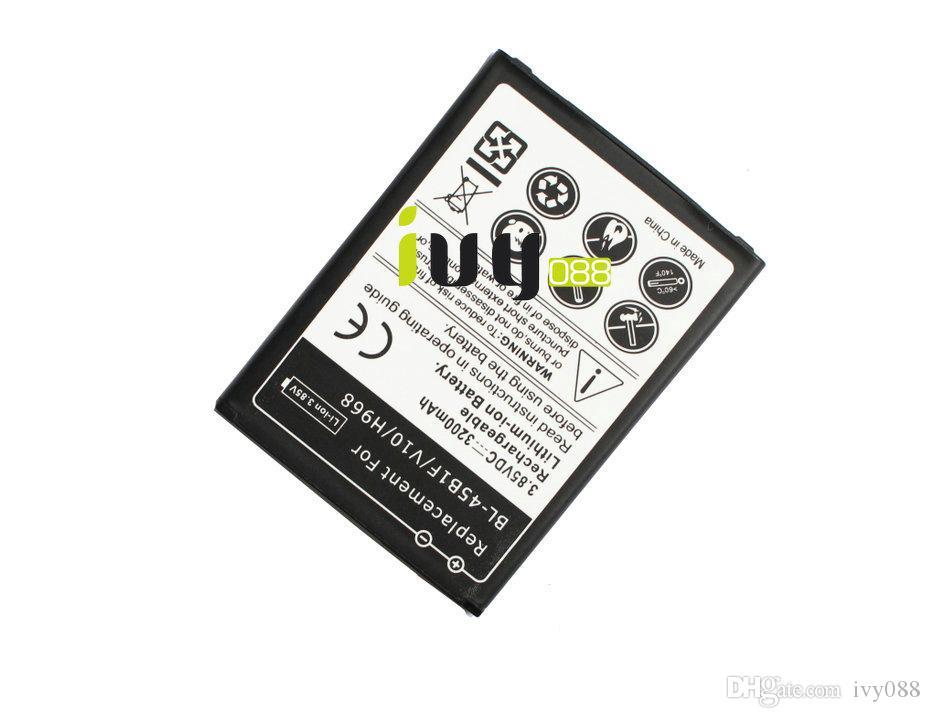 100 قطعة / الوحدة 3200 مللي أمبير BL-45B1F استبدال بطارية ليثيوم أيون قابلة للشحن ل lg v10 H968 H961 BAK-110 بطاريات بطاريات batterij batterie
