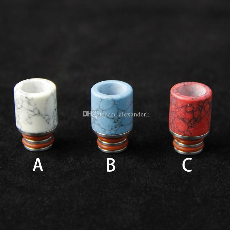 New Ecig Drip Tips Turchese Drip Tip Bella Tophus Stone Drip Tips RDA RBA Vaporizzatori EGO Wide Bore Drip Tips