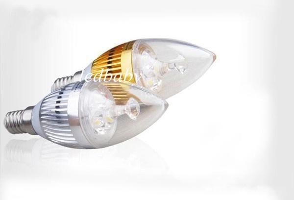 X100 DHL High power Cree 6W 500lm Led candle Bulb E14 E12 E27 85-265V LED chandelier led light lamp lighting spotli