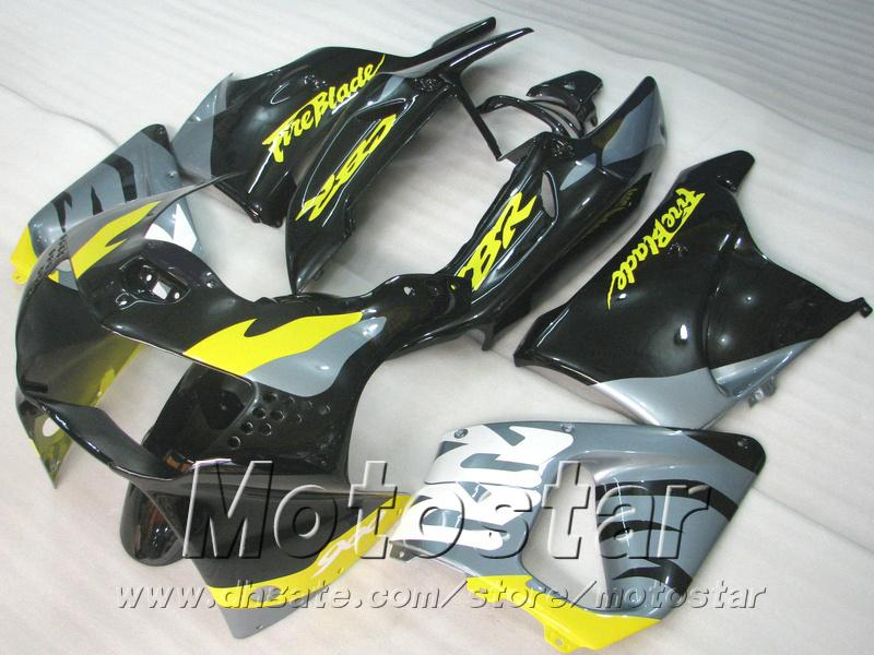 High quality fairing kit for Honda CBR900RR fairings 1998 1999 black yellow bodywork CBR900 RR CBR919 98 99 QD5