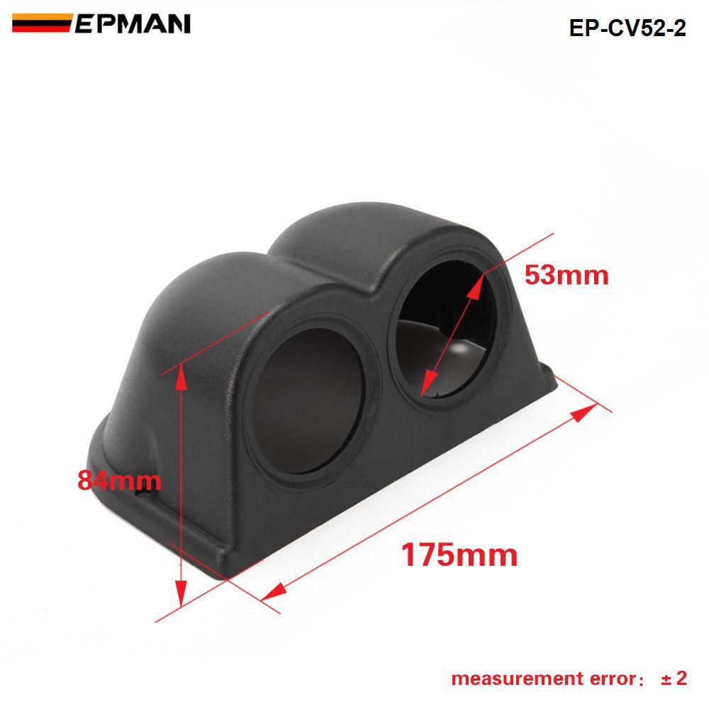 Tansky - Universal Meter / Guage Holder Kapak 2 ÖLÇER ÜÇLÜ ÖLÇEĞİ PANELİ yarış metre 52MM TUTUCU KAPAK EP-CV52-2