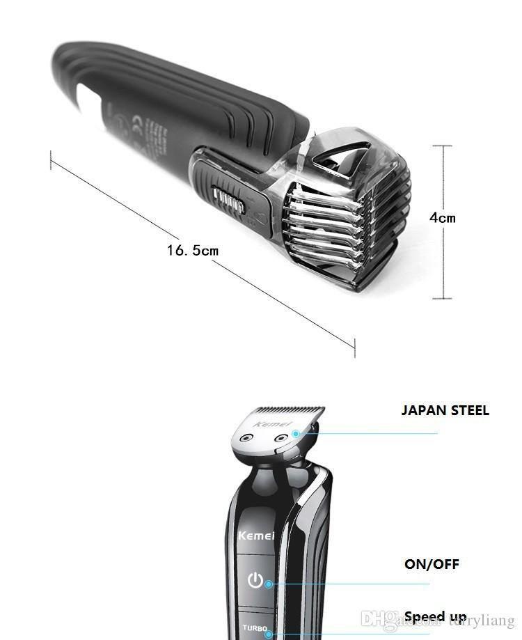 Top quality kemei Waterproof Electric man grooming kit hair clipper trimer shaver beard trimmer nose rechargeable cutting haircut tool