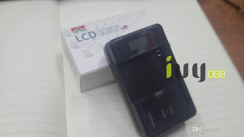 Caricatore universale della porta della batteria della porta 1250mAH di LCD + USB il telefono cellulare astuto della galassia S5 Galaxy S5 S3 S2 Galaxy Note 3 Nota 2 /