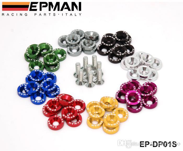 Plaques de boulons de plaque Lisence de pare-chocs de rondelles de pare-chocs de rondelles EPMAN pour Honda Civic EK EP AP DC2 DC5