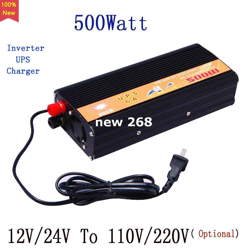 500w Car Power Inverter Converter Dc 12v Or 24v To Ac 110v 220v Circuit 12 Volt For Soldering Iron Portable Solar Usb Adapter Voltage Transformer Charger Ups