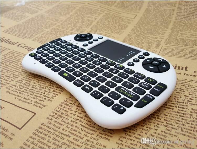 2017 hot vender portátil mini teclado rii mini i8 teclado sem fio com touchpad para pc pad caixa de tv google andriod dhl navio livre