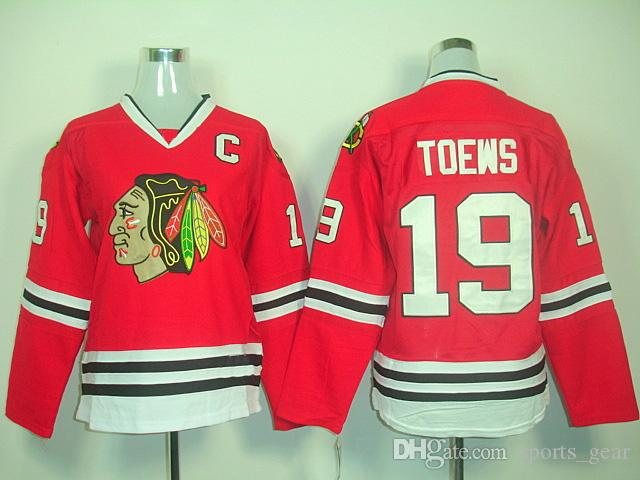 finest selection eec5f 4d520 Red Women Hockey Jerseys Blackhawks #19 Jonathan Toews Jersey Discount Ice  Hockey Uniforms Ladies Sports Uniforms Long Sleeve Team Shirts