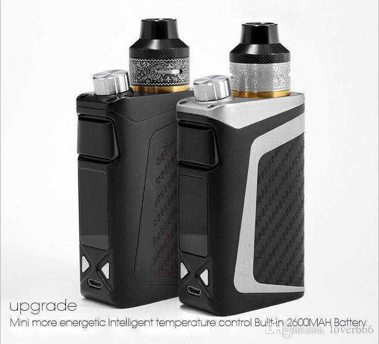 Оригинальные электронные сигареты 100 Вт Контроль температуры Vape Kit Большой размер отверстия для заполнения Встроенный Li-Po 2600 мАч Аккумулятор Бросить курить