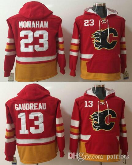 2018 Mens Calgary Flames Hoodies Jersey 13 Johnny Gaudreau 23 Sean Monahan  Sweatshirts Winter Jacket Red From Patriots, $43.2 | Dhgate.Com