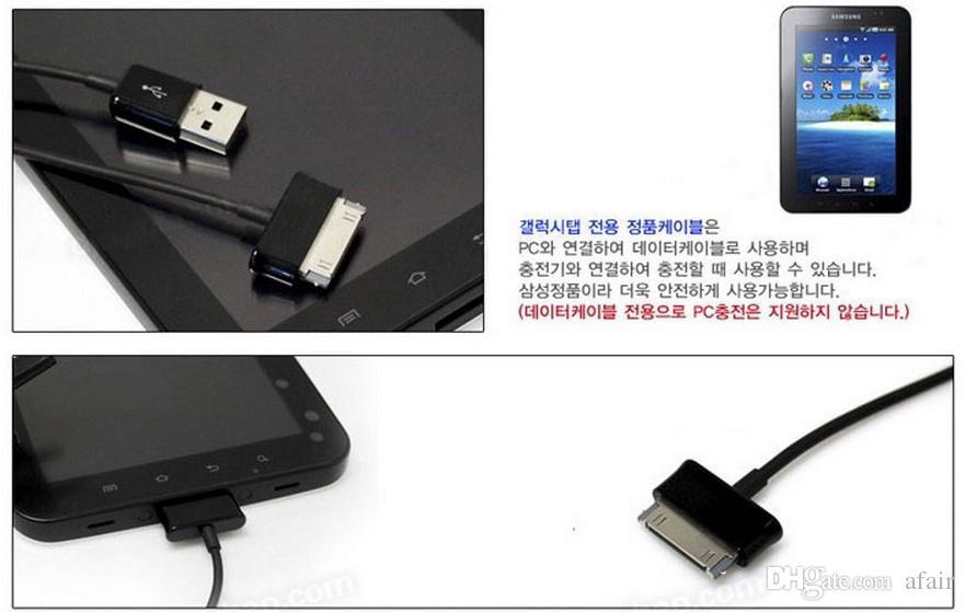 2016 Hot 1M 3FT USB 동기화 데이터 케이블 충전기 삼성 Galaxy P3100 P5100 용 충전 라인 참고 N8000 탭 2 3 P3200 P1000 태블릿 PC 10.1
