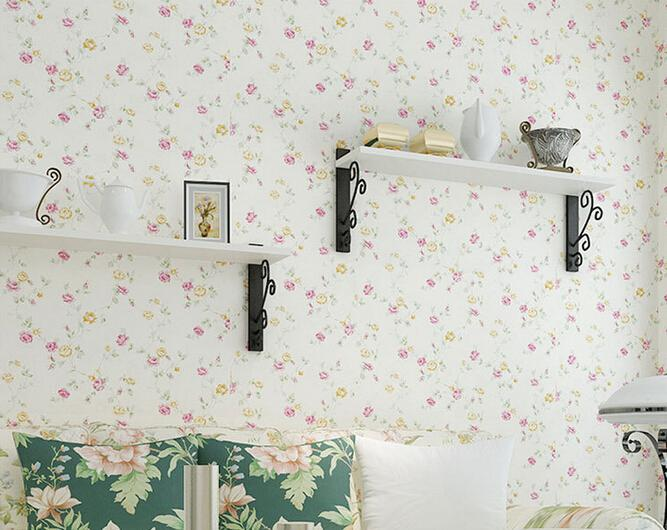 New 3D Wallpaper Home decor bedroom decoration Non woven wall paper roll flower