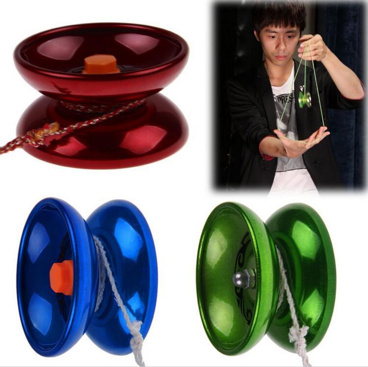 Wholesale New luminum Design Professional YoYo Ball Bearing String Trick Alloy Kids + String Randomly,Amusement Toys